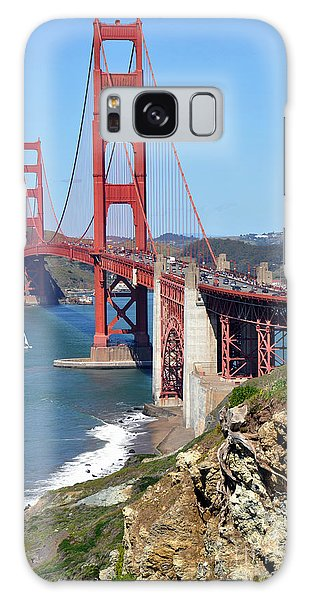 Golden Gate Galaxy Case by Gina Savage