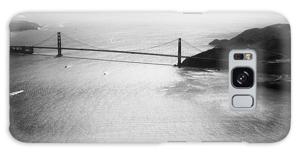 Golden Gate In Black And White Galaxy Case