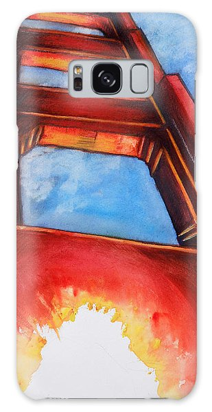 Galaxy Case featuring the painting Golden Gate Light by Rene Capone