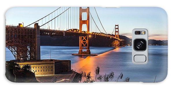 Golden Gate Night Galaxy Case