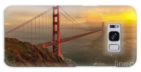Golden Gate Sunset Galaxy Case by John Roberts