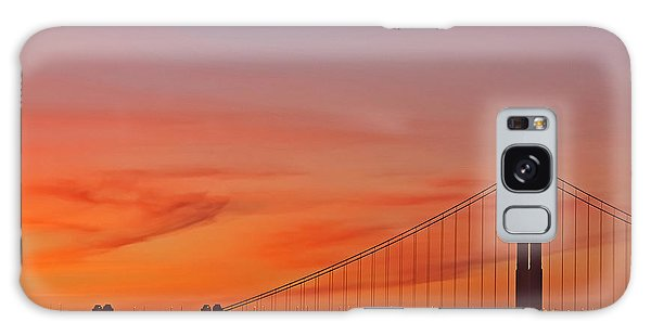 Golden Gate Sunset Galaxy Case by Kate Brown