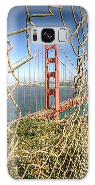 West Bay Galaxy Case - Golden Gate Through The Fence by Scott Norris