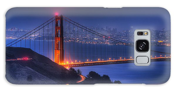 Golden Gate Twilight Galaxy Case
