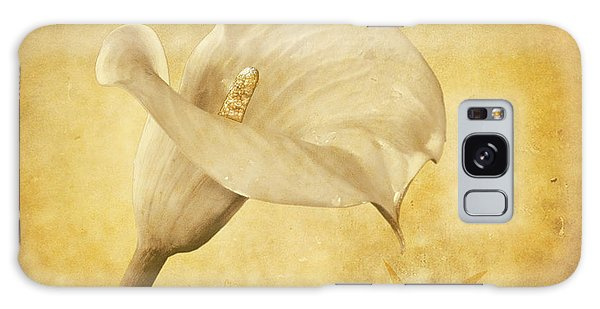 Golden Glow Cala Lily Galaxy Case