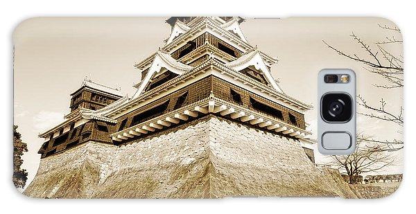 Golden Glow - Kumamoto Castle - Kyushu - Japan Galaxy Case