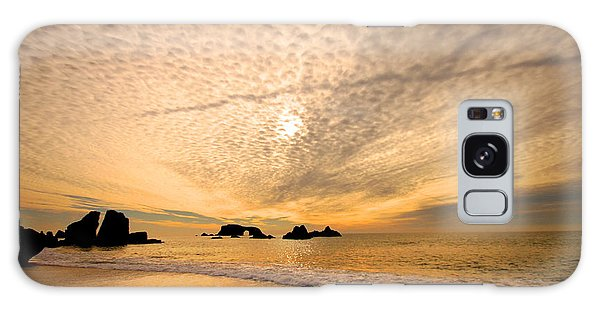 Golden Glow Of A Sunset Over Goat Rock California Galaxy Case by Wernher Krutein