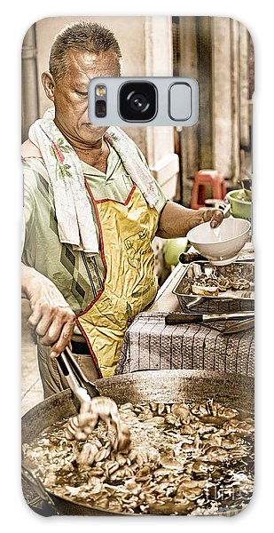 Golden Glow - South East Asian Street Vendor Cooking Food At His Stall Galaxy Case