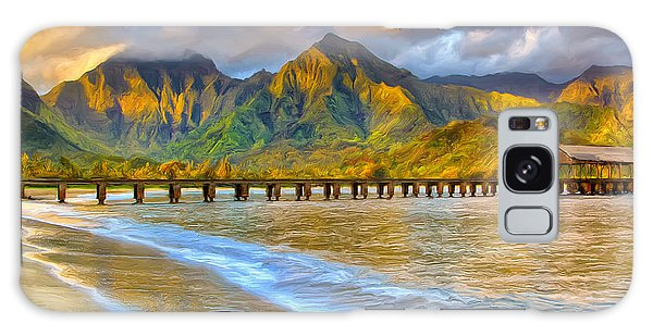 Golden Hanalei Morning Galaxy Case