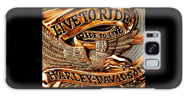 Golden Harley Davidson Logo Galaxy Case