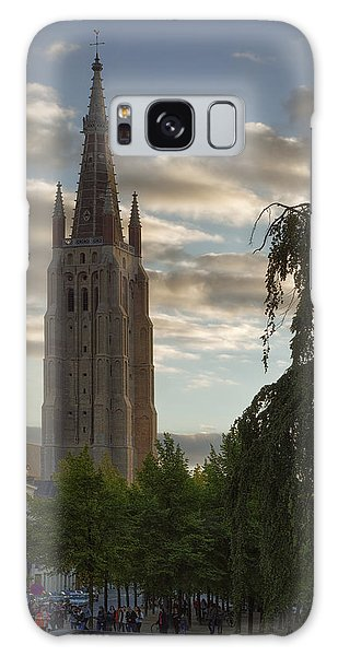 Cultural Center Galaxy Case - Golden Hour Church Glow by Joan Carroll