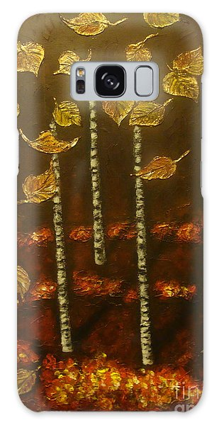 Golden Leaves 2 Galaxy Case