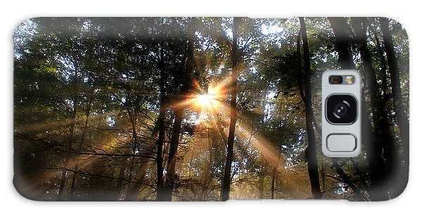 Golden Light Galaxy Case by Melissa Petrey