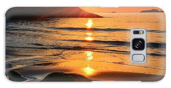 Galaxy Case featuring the photograph Golden Morning Singing Beach by Michael Hubley