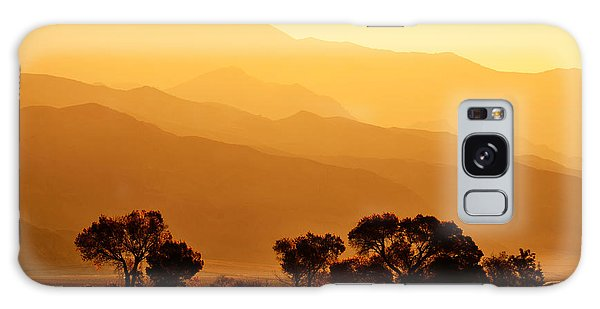 Golden Mountain Light Galaxy Case