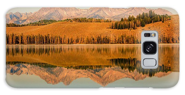 Haybale Galaxy Case - Golden Mountains  Reflection by Robert Bales