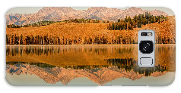 Golden Mountains  Reflection Galaxy Case