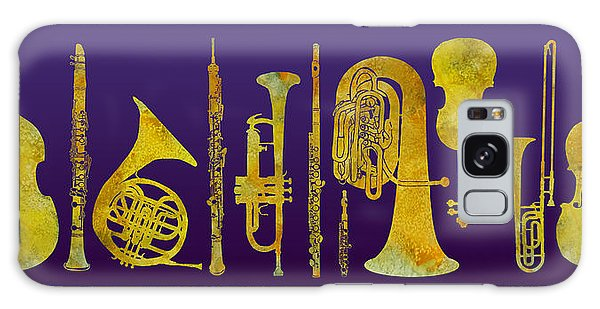 Trombone Galaxy Case - Golden Orchestra by Jenny Armitage