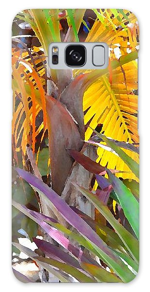 Golden Palm 2 Galaxy Case by Darla Wood