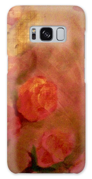 Golden Pink Roses Galaxy Case by Christy Saunders Church