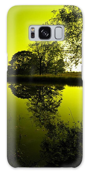 Golden Pond Galaxy Case by Nick Kirby