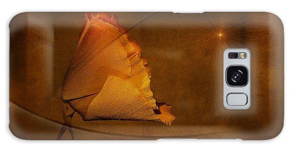Golden Poppy Galaxy Case