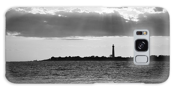 Cape May Galaxy Case - Golden Rays At Cape May Bw by Michael Ver Sprill