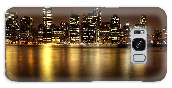 Golden Reflections Of Manhattan Galaxy Case