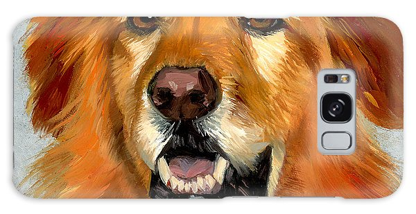 Golden Retriever Dog Galaxy Case by Alice Leggett