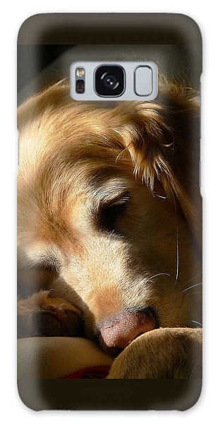 Golden Retriever Dog Sleeping In The Morning Light  Galaxy Case