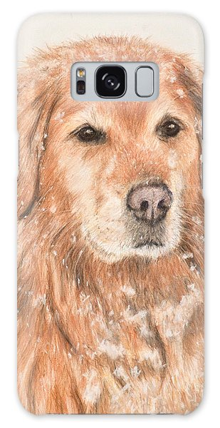 Golden Retriever In Snow Galaxy Case