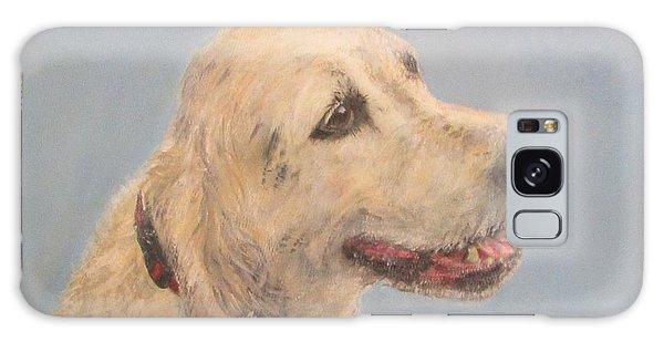 Pet Portrait Of Golden Retriever Maisie  Galaxy Case