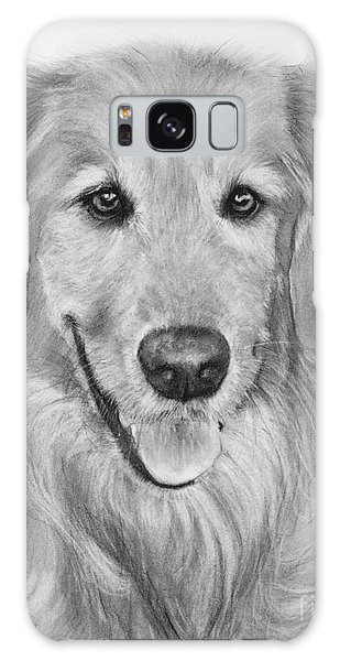 Golden Retriever Sketch Galaxy Case