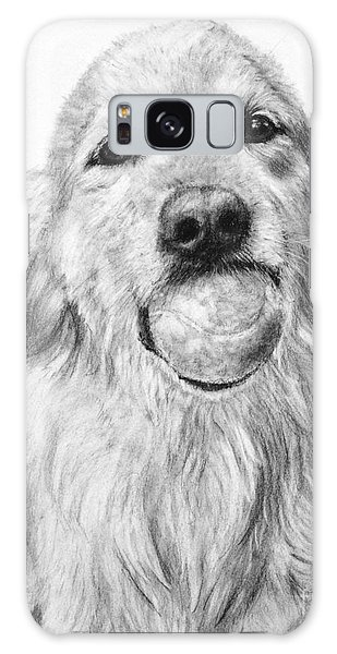 Golden Retriever With Ball Galaxy Case by Kate Sumners