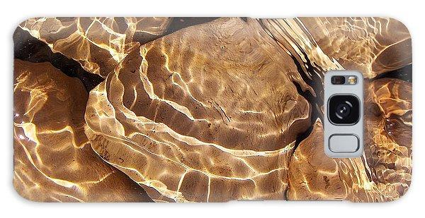 Golden Ripples Galaxy Case by Kathi Mirto