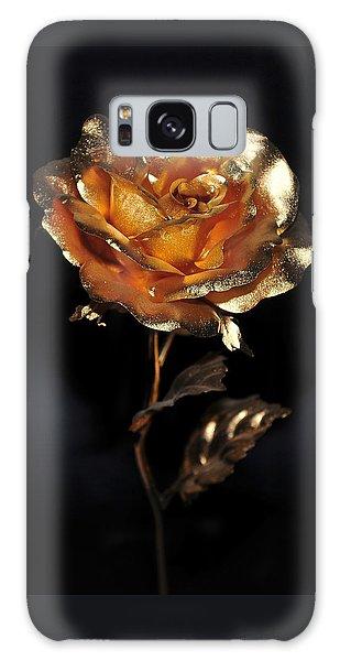 Golden Rose Galaxy Case