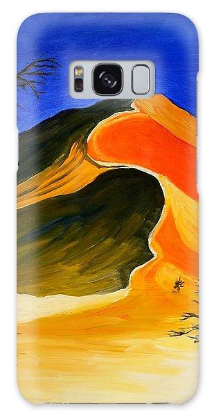 Golden Sand Dune Center Panel Galaxy Case