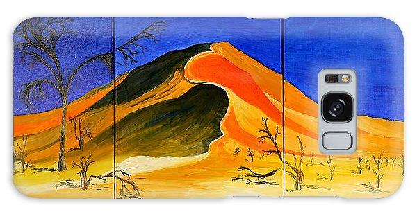 Golden Sand Dune_triptych Galaxy Case