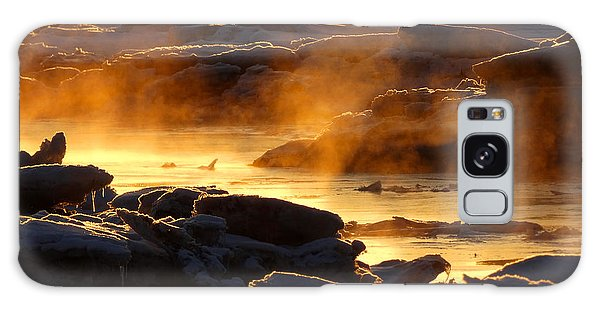Golden Sea Smoke At Sunrise Galaxy Case