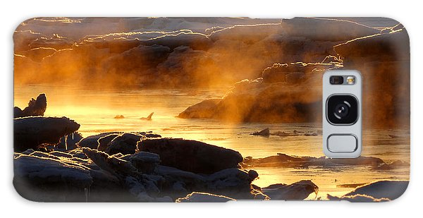 Golden Sea Smoke At Sunrise Galaxy Case
