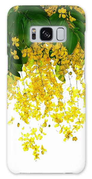 Golden Showers Flowers Galaxy Case by Darla Wood