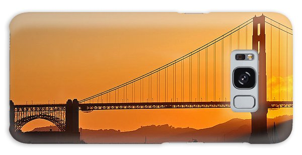 Golden Sky Galaxy Case