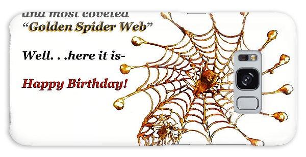 Golden Spider Web Birthday Card Galaxy Case