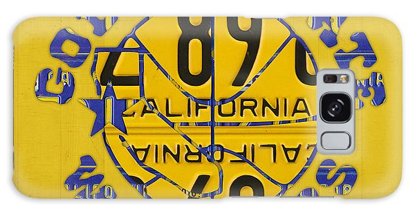 Sport Art Galaxy Case - Golden State Warriors Basketball Team Retro Logo Vintage Recycled California License Plate Art by Design Turnpike
