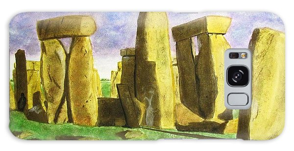 Golden Stonehenge Galaxy Case