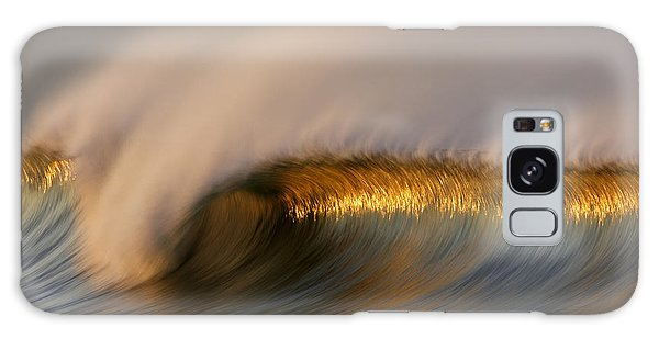Golden Stripe Mg_9094 Galaxy Case by David Orias