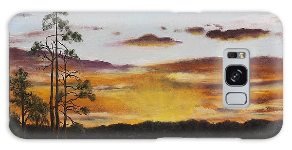 Golden Sunrise Galaxy Case