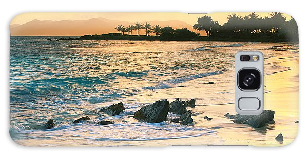 Golden Sunrise On Sapphire Beach Galaxy Case