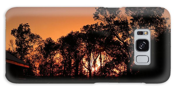 Golden Sunset Galaxy Case by Rebecca Davis