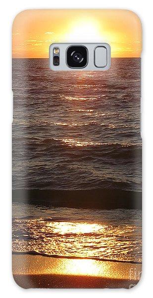 Golden Sunset At Destin Beach Galaxy Case by Christiane Schulze Art And Photography